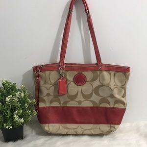 Coach signature women Shoulder Bag -Red